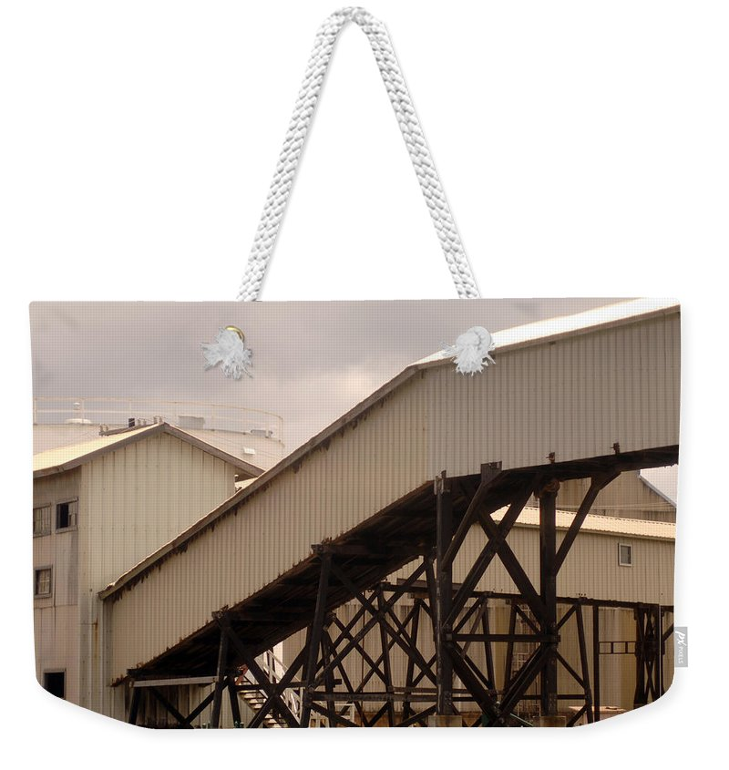 Urban Weekender Tote Bag featuring the photograph Warehouse Passage by Jill Reger