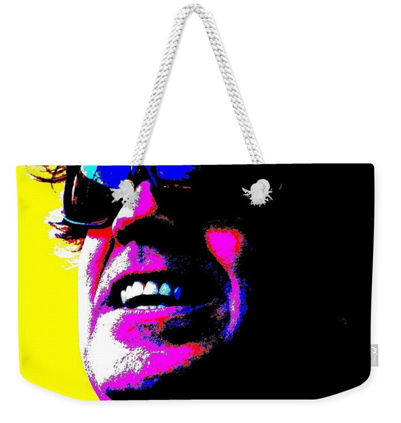 Music Weekender Tote Bag featuring the photograph Warhol Robbie by Jesse Ciazza