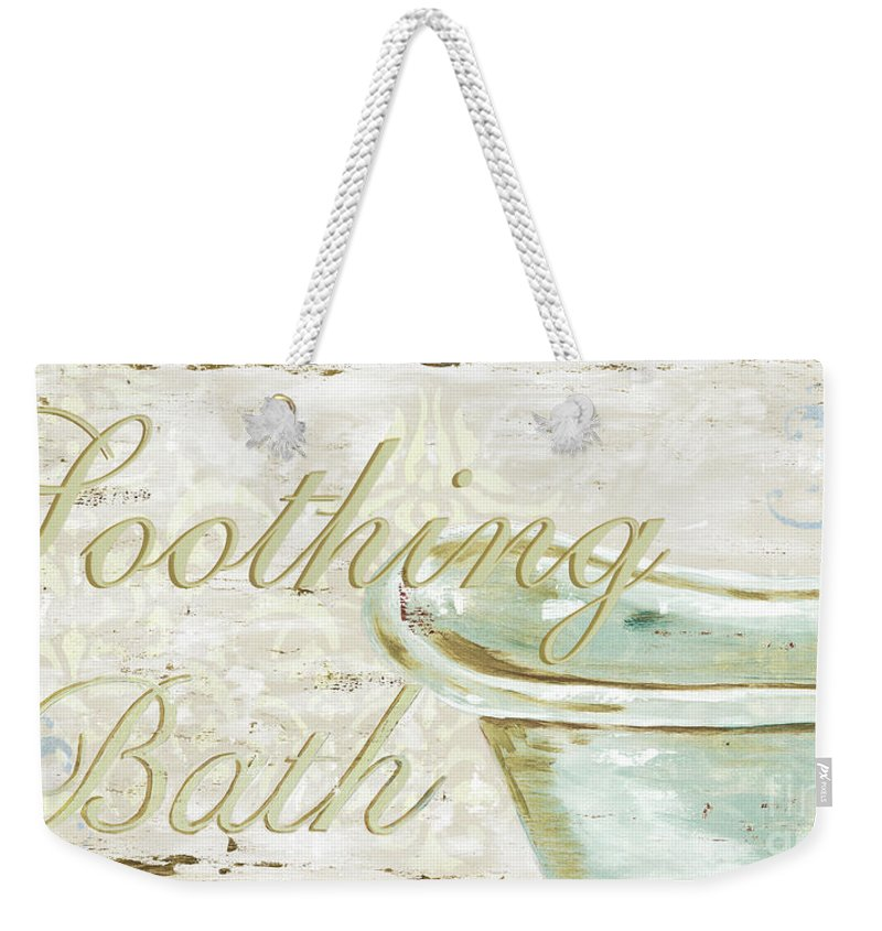 Bath Weekender Tote Bag featuring the painting Warm Bath 1 by Debbie DeWitt