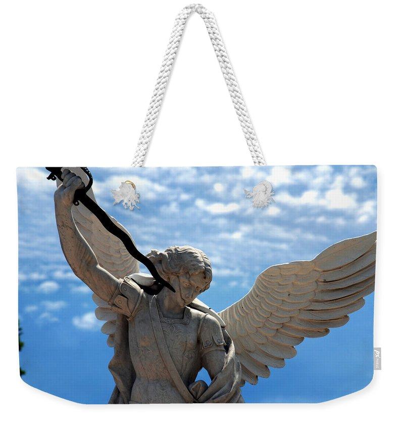 Warrior Weekender Tote Bag featuring the photograph Warrior Angel by Susanne Van Hulst