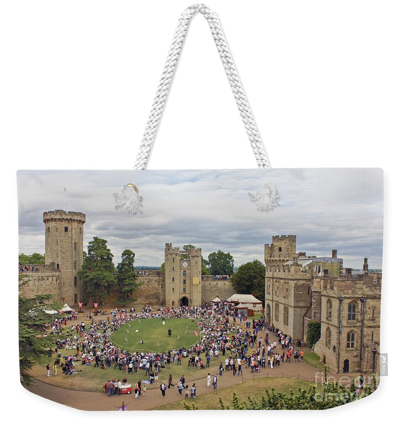 Warwick Castle Weekender Tote Bag featuring the photograph Warwick Castle by Terri Waters