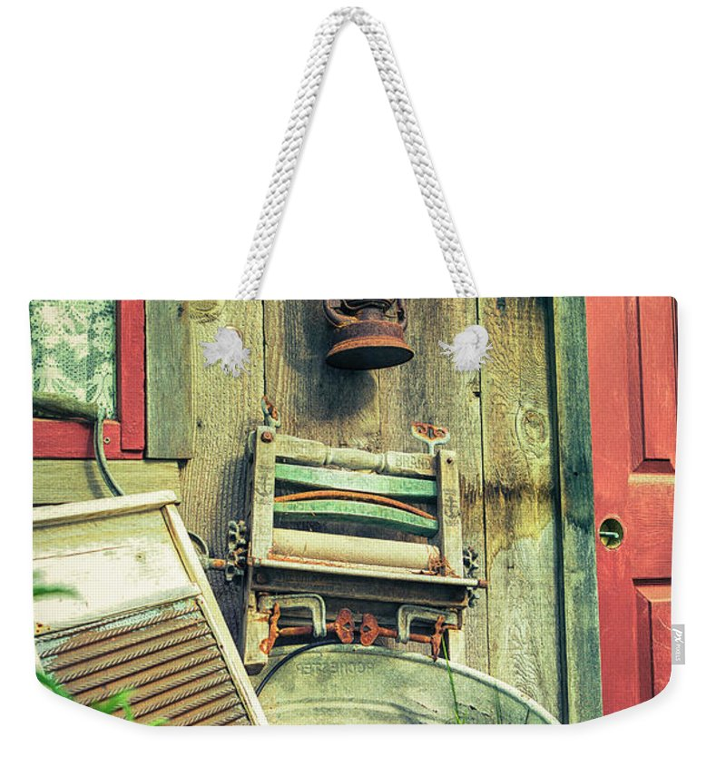 Laundry Weekender Tote Bag featuring the photograph Wash Day by Caitlyn Grasso