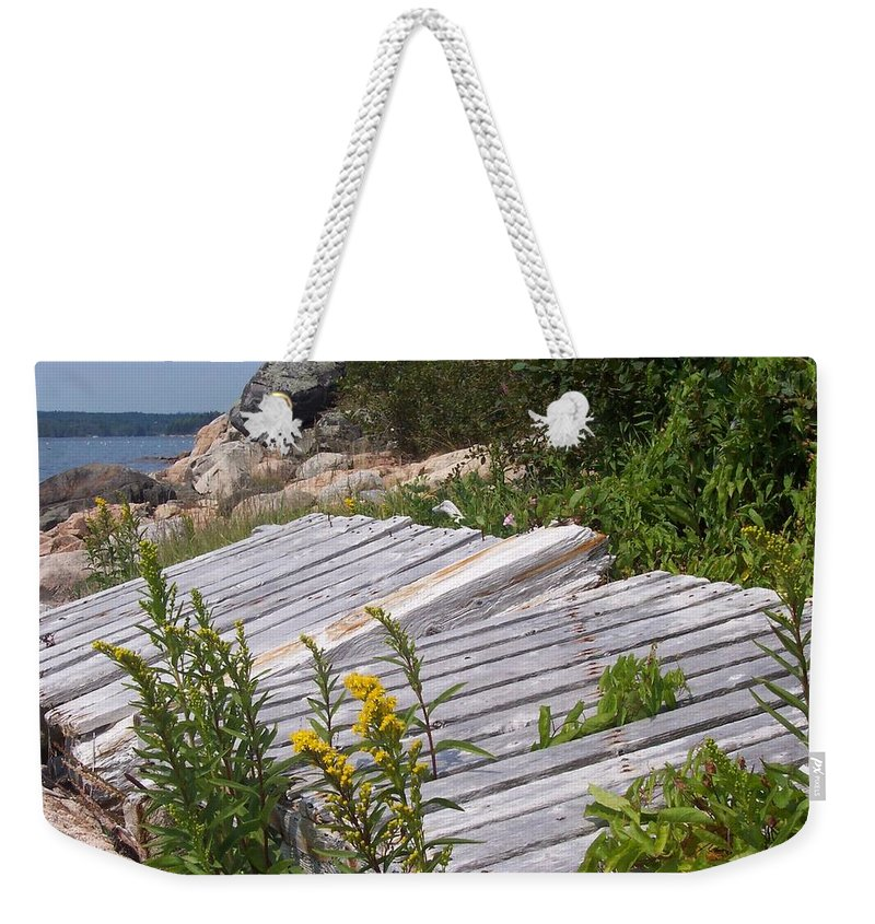 Nature Weekender Tote Bag featuring the photograph Washed Ashore by Lisa Kane
