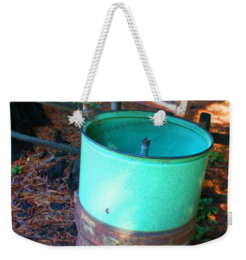 Oak Glen Weekender Tote Bag featuring the photograph Washed Up by Tommy Anderson