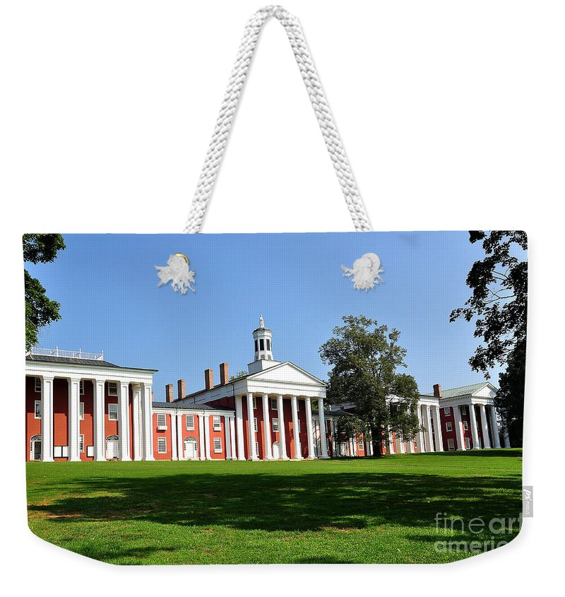 W&l Weekender Tote Bag featuring the photograph Washington And Lee by Todd Hostetter