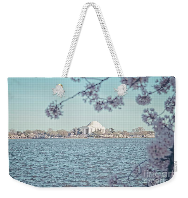Cherry Blossoms Weekender Tote Bag featuring the photograph Washington Dc In Spring by Emily Kay