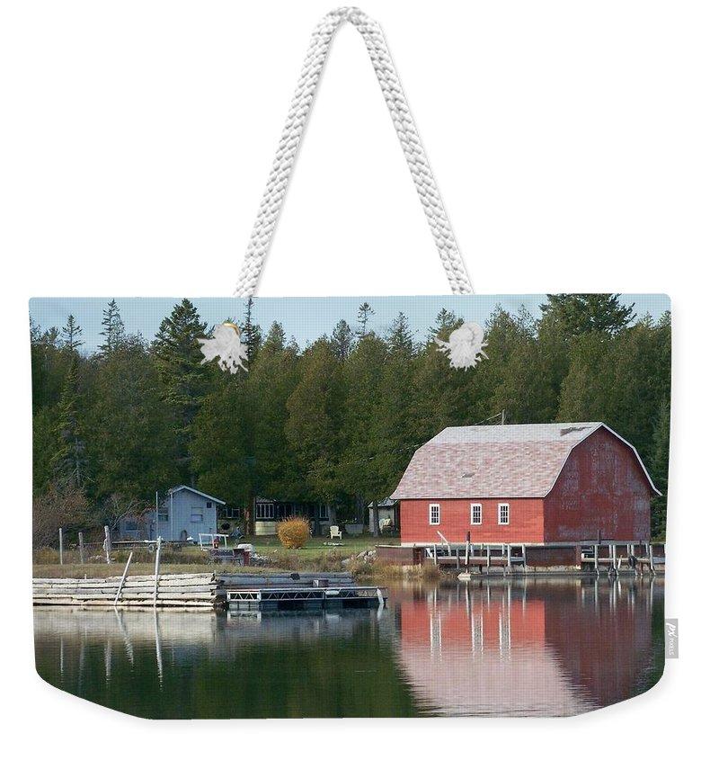 Washington Island Weekender Tote Bag featuring the photograph Washington Island Harbor 6 by Anita Burgermeister