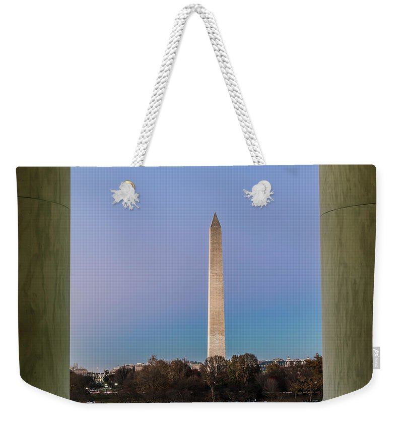 Washington Monument Weekender Tote Bag featuring the photograph Washington Monument by Larry Marshall