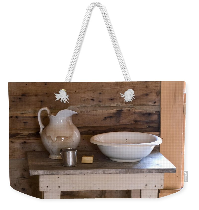 Washstand Weekender Tote Bag featuring the photograph Washstand by Douglas Barnett