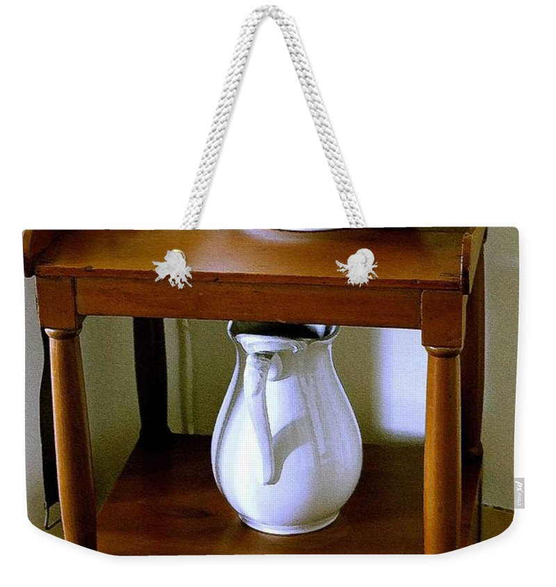Washstand Weekender Tote Bag featuring the photograph Washstand by Nelson Strong