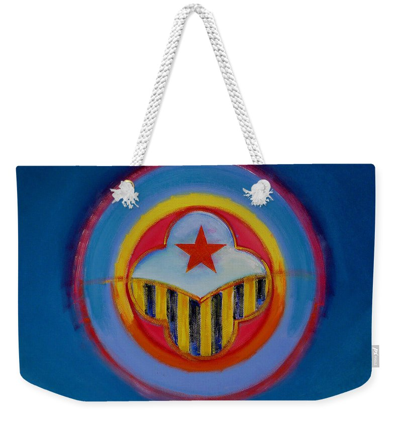 Button Weekender Tote Bag featuring the painting Wasp by Charles Stuart