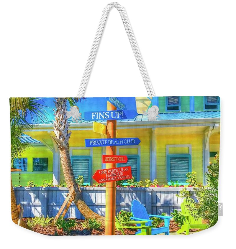 Beachy Weekender Tote Bag featuring the photograph Wastin Away by Debbi Granruth