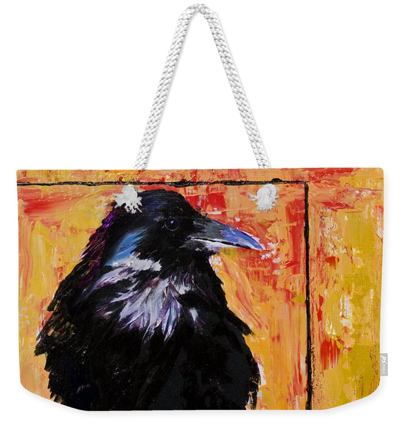 Large Decorative Fine Art Prints Weekender Tote Bag featuring the painting Watch And Learn by Pat Saunders-White