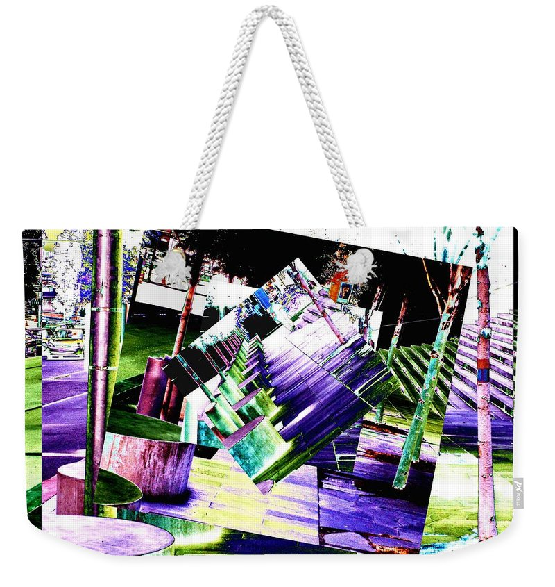 Seattle Weekender Tote Bag featuring the photograph Watch Your Step by Tim Allen