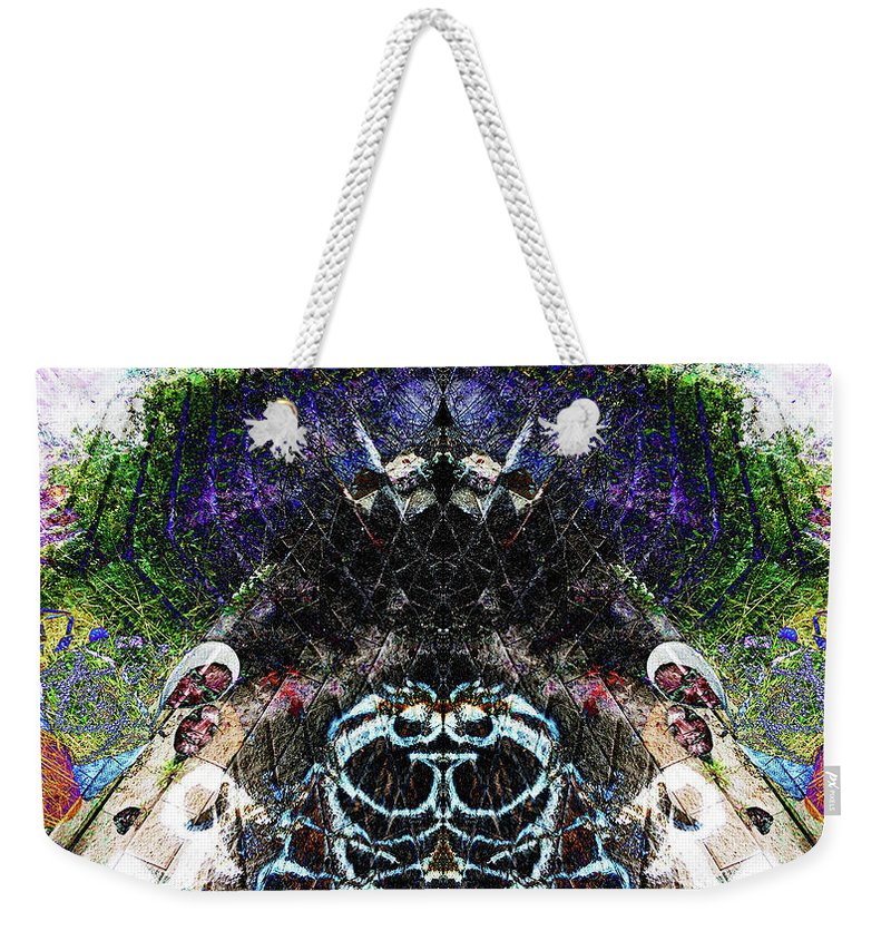 Pyramid Weekender Tote Bag featuring the digital art Watchers by Revantide Afterburner
