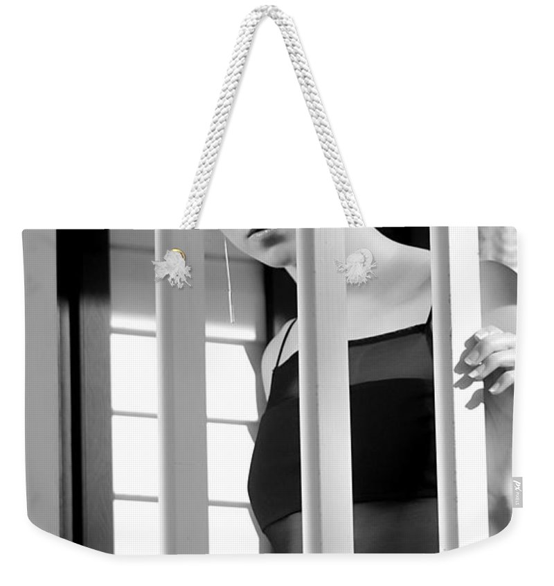 Clay Weekender Tote Bag featuring the photograph Watching by Clayton Bruster