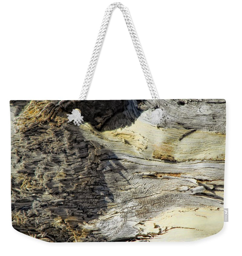 Wood Weekender Tote Bag featuring the photograph Watching by Donna Blackhall