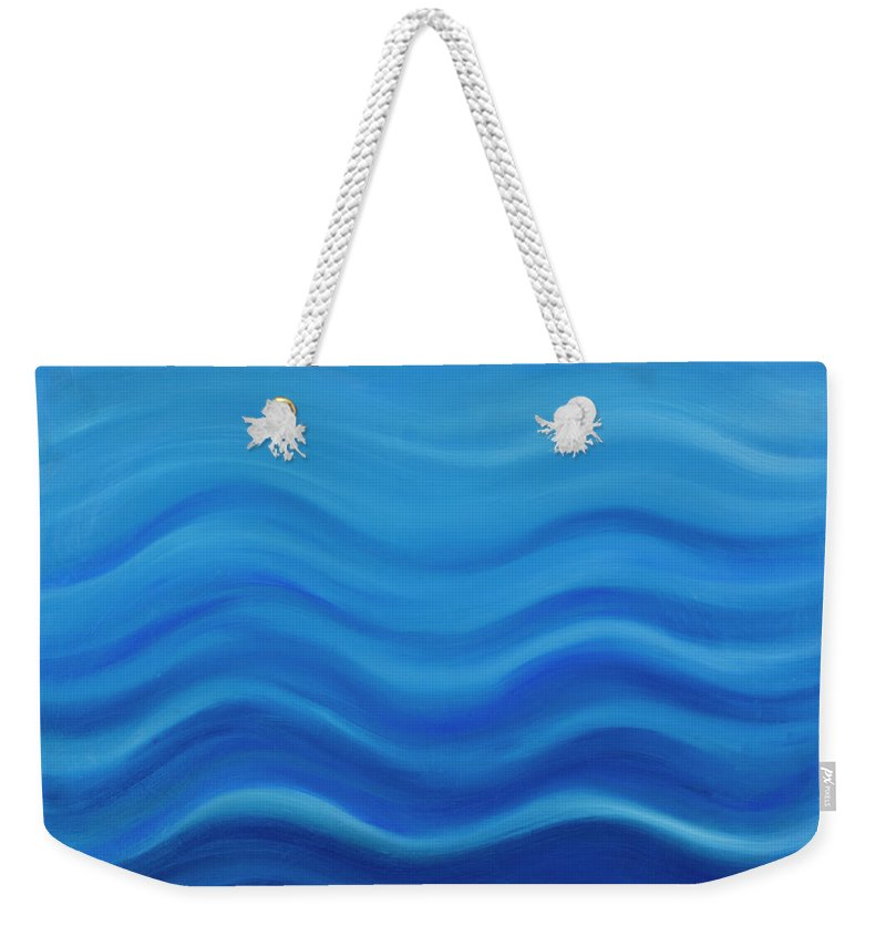 Water Weekender Tote Bag featuring the painting Water by Adamantini Feng shui