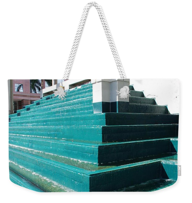 Architecture Weekender Tote Bag featuring the photograph Water At The Federl Courthouse by Rob Hans