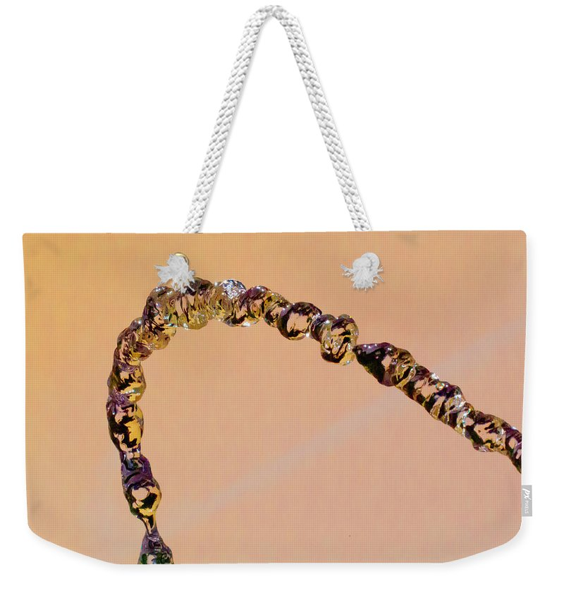 Water Weekender Tote Bag featuring the photograph Water Chain IIi by Wolfgang Stocker