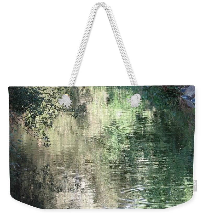 Reflection Weekender Tote Bag featuring the photograph Water Color by Kelly Mezzapelle