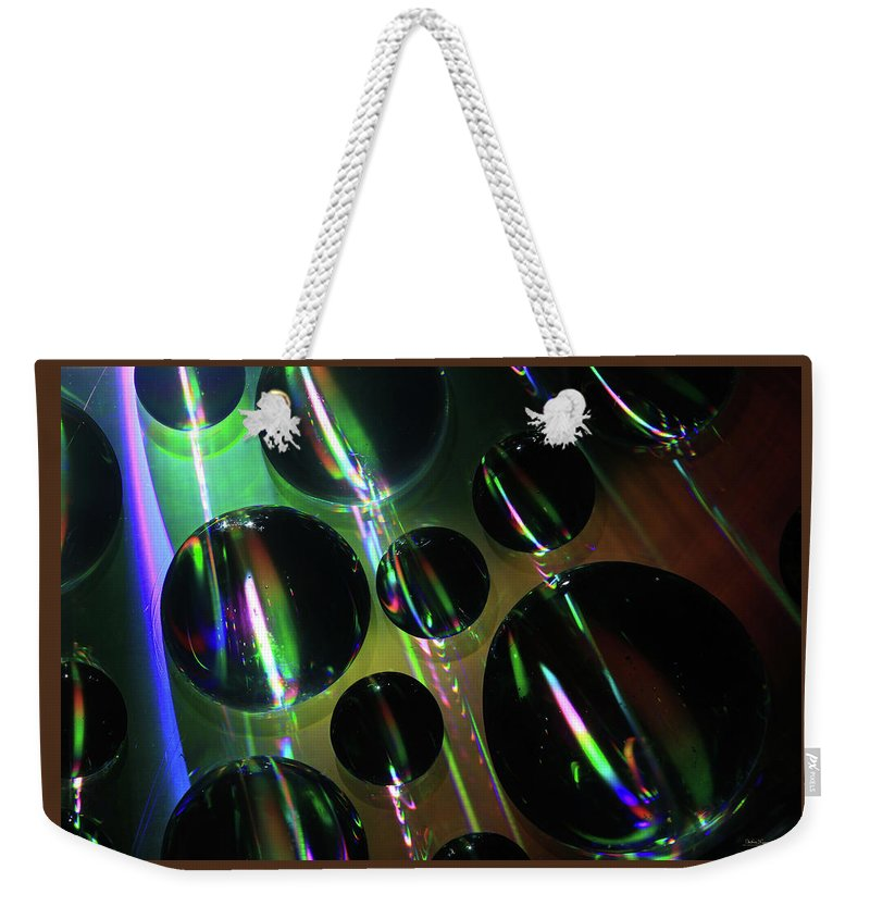 Saskatchewan Weekender Tote Bag featuring the digital art Water Droplets 1 by Andrea Lawrence