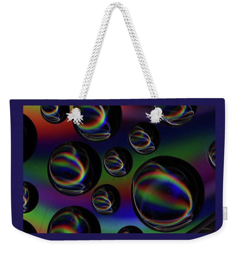 Saskatchewan Weekender Tote Bag featuring the photograph Water Droplets 5 by Andrea Lawrence