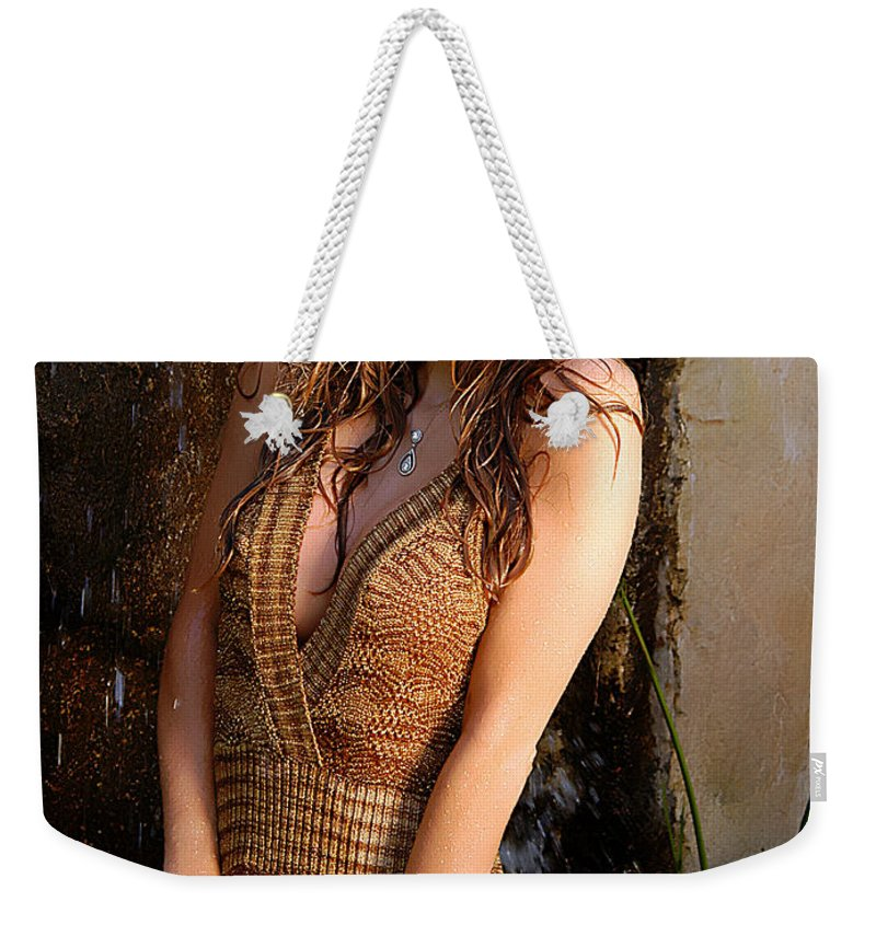 Clay Weekender Tote Bag featuring the photograph Water Fall Beauty by Clayton Bruster