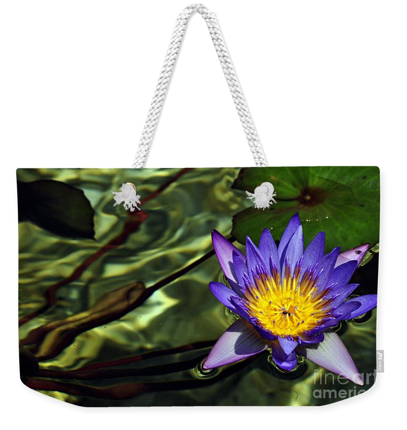 Clay Weekender Tote Bag featuring the photograph Water Floral by Clayton Bruster