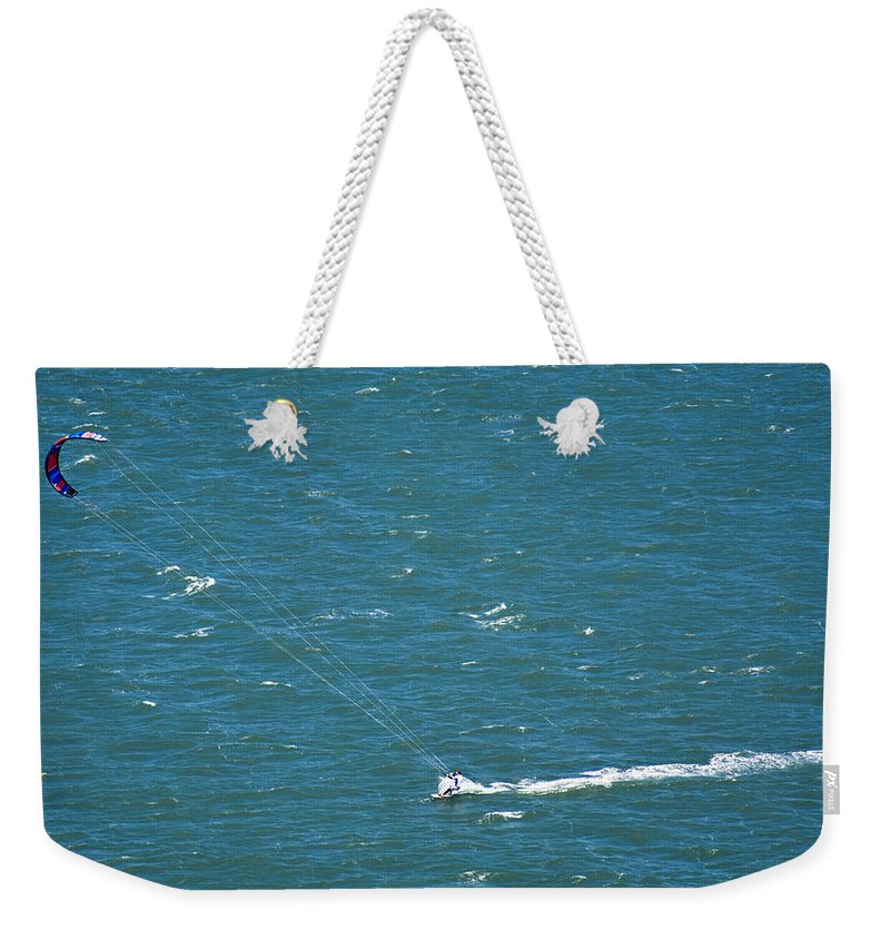 Water Weekender Tote Bag featuring the photograph Water Glider by Marilyn Hunt