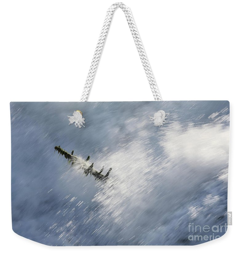 Stick Weekender Tote Bag featuring the photograph Water by Jana Behr