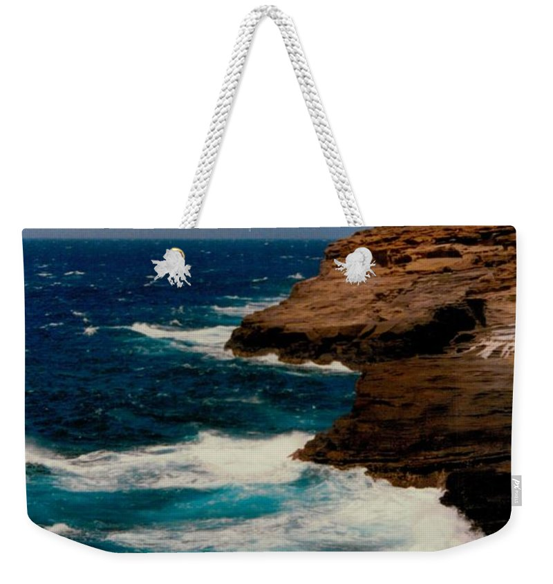 Beach Weekender Tote Bag featuring the photograph Water Kiss by Michael Bergman