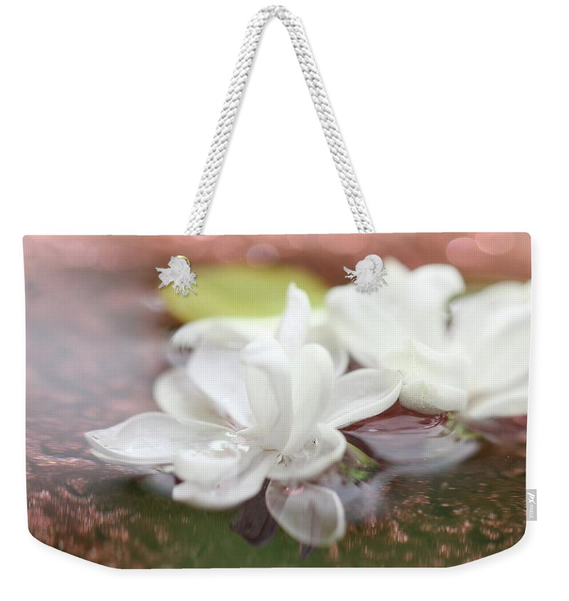 Lilac Weekender Tote Bag featuring the photograph Water Lilac by Heike Hultsch