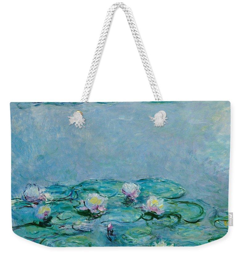 Monet Water Lilies Weekender Tote Bags
