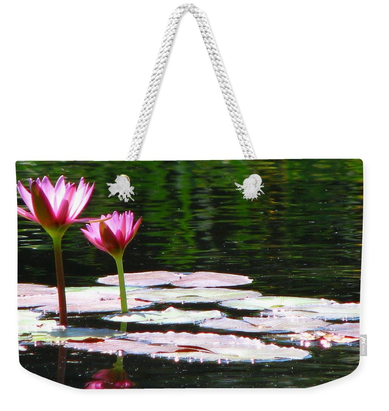 Patzer Weekender Tote Bag featuring the photograph Water Lily by Greg Patzer