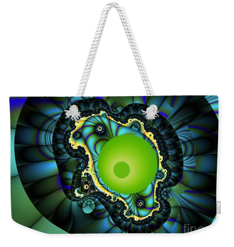 Water Melon Weekender Tote Bag featuring the digital art Water Mellon by Ron Bissett