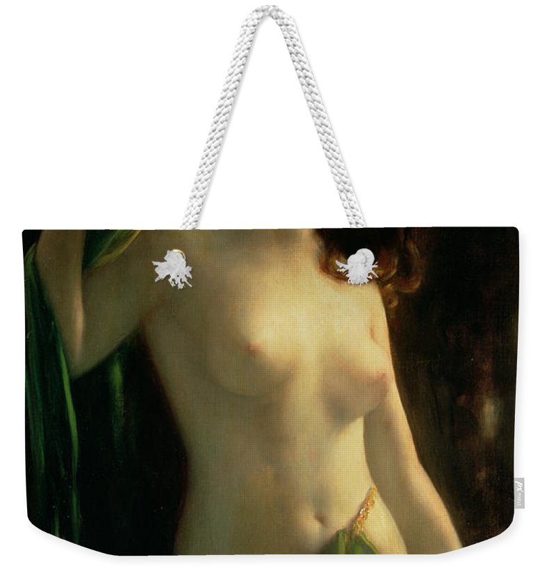 Water Nymph Weekender Tote Bag featuring the painting Water Nymph by Otto Theodor Gustav Lingner