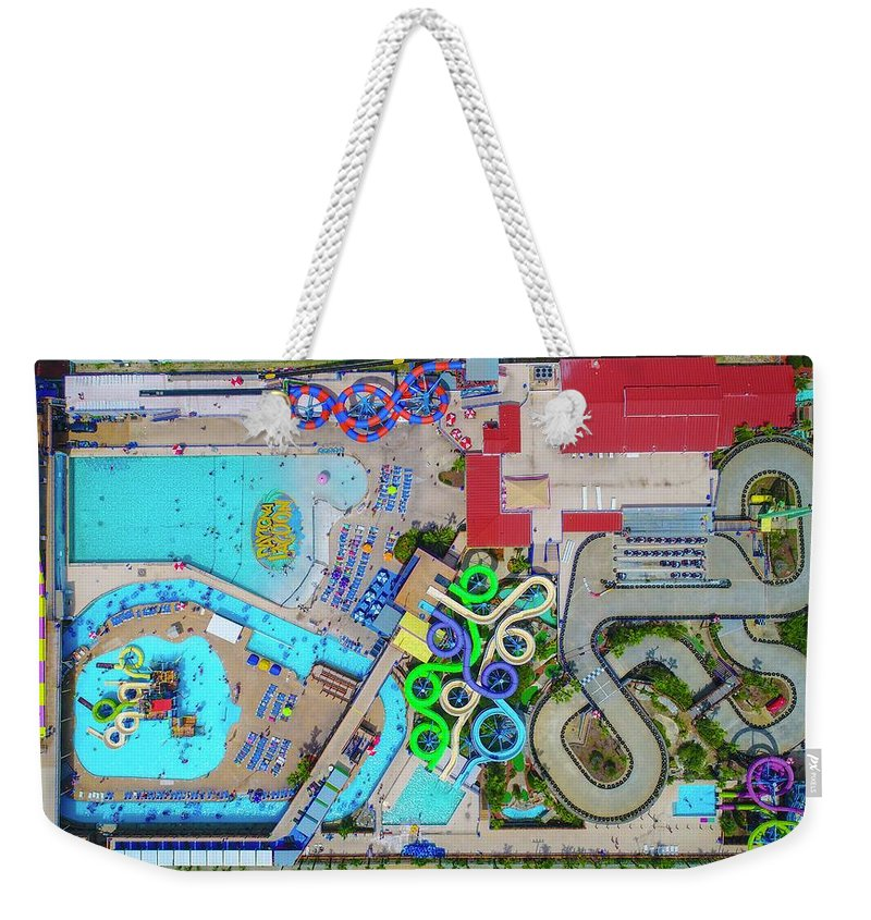 Water Park Weekender Tote Bag featuring the photograph Water Park by Christopher Bednarly