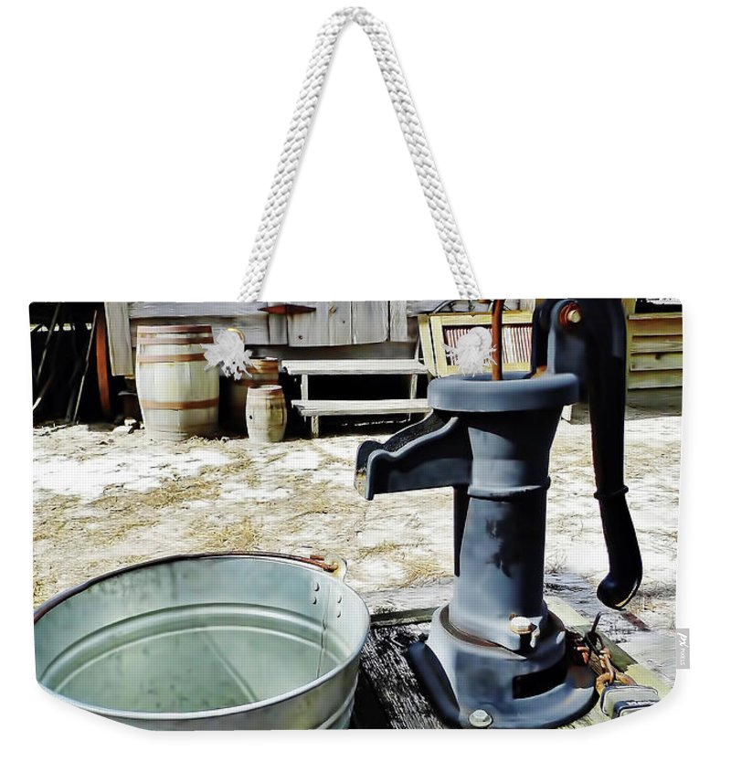 Water Pump Weekender Tote Bag featuring the photograph Water Pump by D Hackett