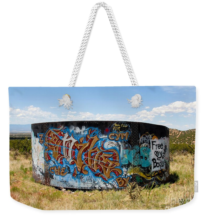 Graffiti Weekender Tote Bag featuring the photograph Water Tank Graffiti by David Lee Thompson