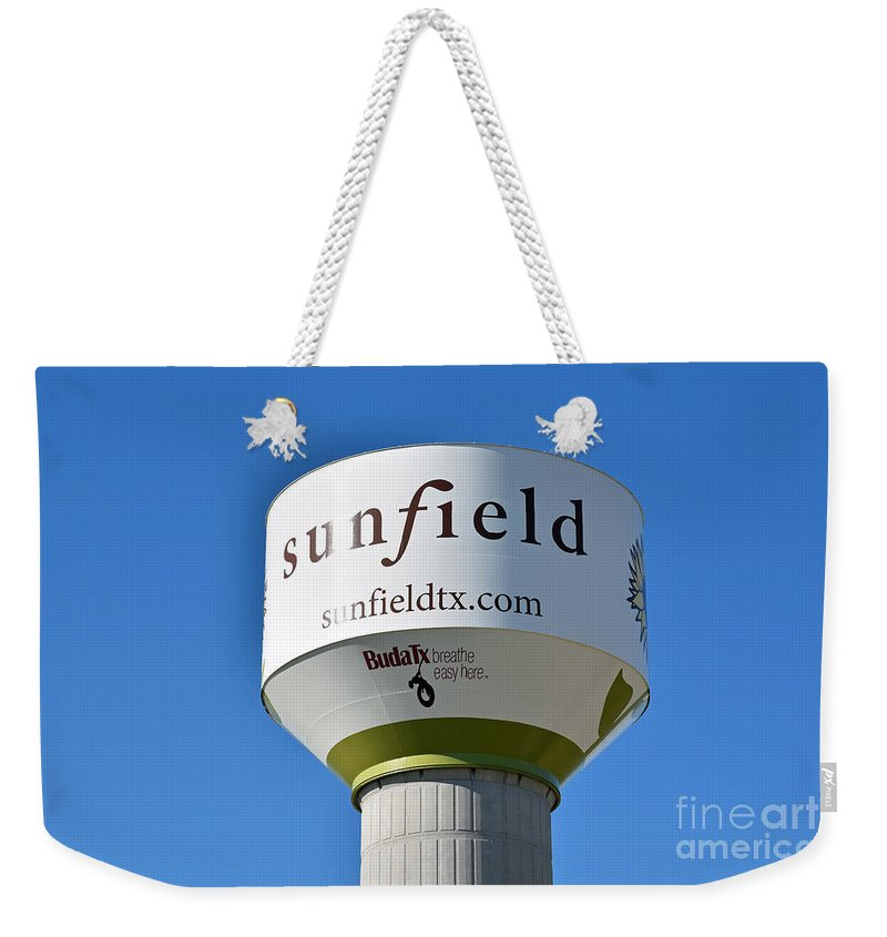 Water Tower Weekender Tote Bag featuring the photograph Water Tower - Sunfield Texas by Ray Shrewsberry