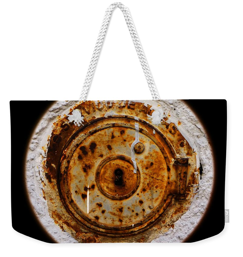Service Cover Weekender Tote Bag featuring the photograph Water Water Everywhere by Charles Stuart