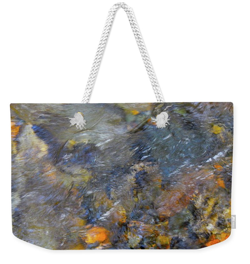 Colorful Water Art Weekender Tote Bag featuring the photograph Water Whimsy 176 by George Ramos
