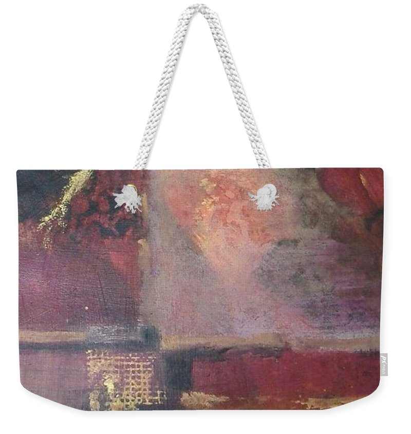 Abstract Weekender Tote Bag featuring the mixed media Waterbucket by Pat Snook
