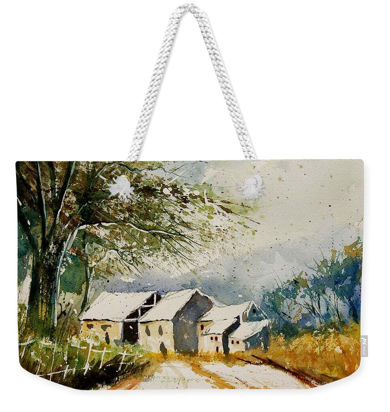 Landscape Weekender Tote Bag featuring the painting Watercolor 010708 by Pol Ledent