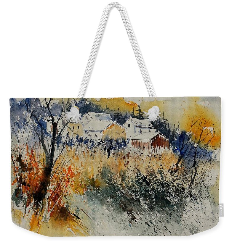 Landscape Weekender Tote Bag featuring the painting Watercolor 011071 by Pol Ledent