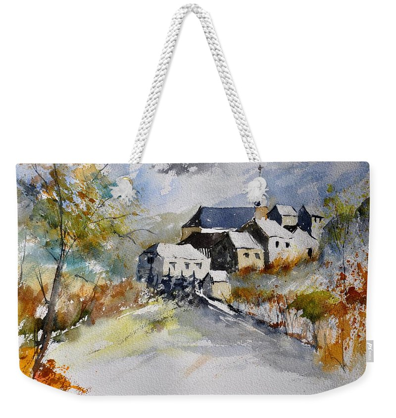 Landscape Weekender Tote Bag featuring the painting Watercolor 015022 by Pol Ledent