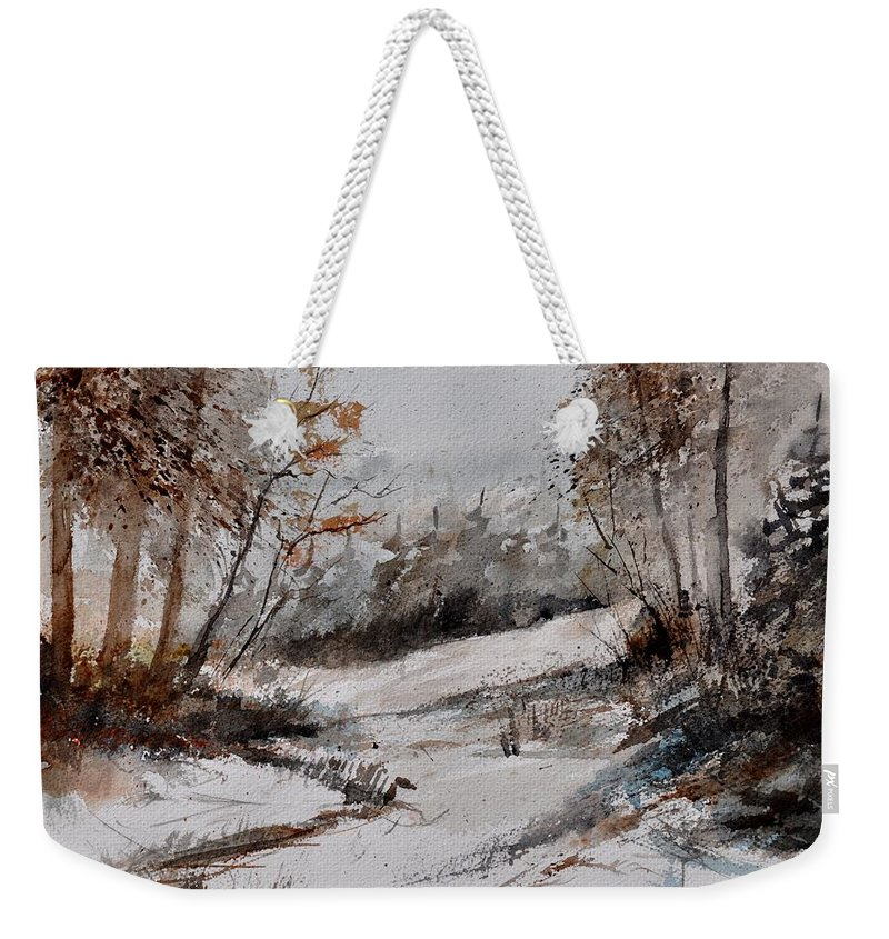 Landscape Weekender Tote Bag featuring the painting Watercolor 017051 by Pol Ledent