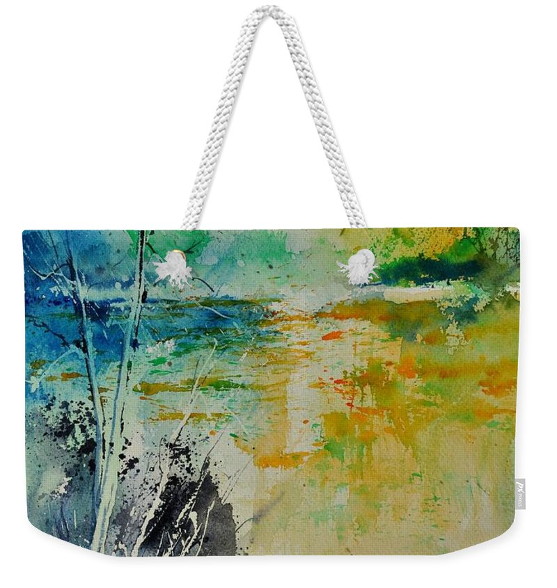 Pond Weekender Tote Bag featuring the painting Watercolor 018080 by Pol Ledent