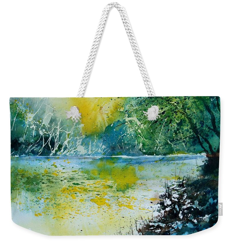 Pond Weekender Tote Bag featuring the painting Watercolor 051108 by Pol Ledent
